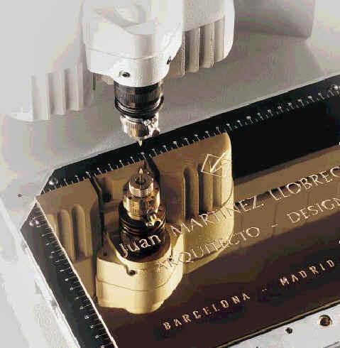 brass plate engraving machine